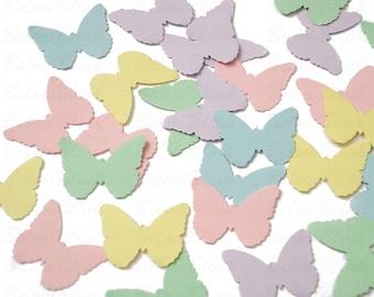 Pastel Butterfly Confetti, Butterflies, Garden Party Decor, Embellishments - No985