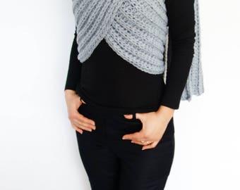 Crochet Pattern - Zendeya Inspired Wrap/ Trendy Shouders Coverup/Convertible Oversized Scarf Poncho/ Long Jacket/Jumbo Cape