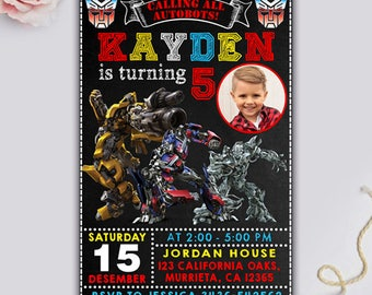 Transformers invite etsy transformers birthday transformers birthday invitation transformers party filmwisefo
