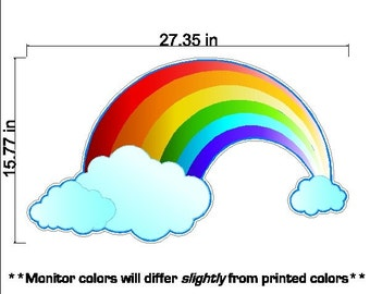 Peel and Stick Rainbow Decal Removable and Repositionable Rainbow Wall Sticker