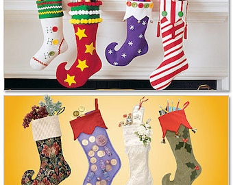 McCalls 2991 Sewing Pattern, Christmas Stockings, Holiday Pattern stockings