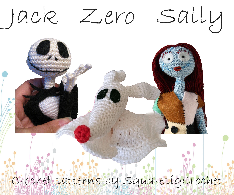 Crochet pattern Jack Zero and Sally Nightmare before