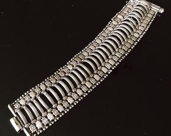 Antique Solid Sterling Silver Tribal Bracelet