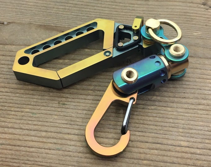 Ti-Drone Carabiner Key Chain / with  New Ti-Swivel-II