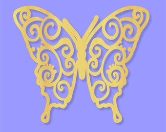Laser cut  Wood Butterfly