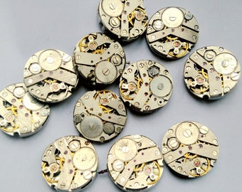 11pcs Lot of Steampunk Vintage Watch Movements Dia 19.80mm Industrial Art Craft Supply E1980