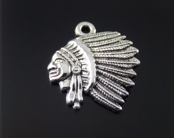 5 -  Antique Silver Indian charm