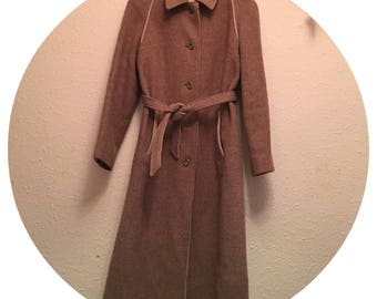 Vintage 50's Winter Wool Trench coat Size 10/12