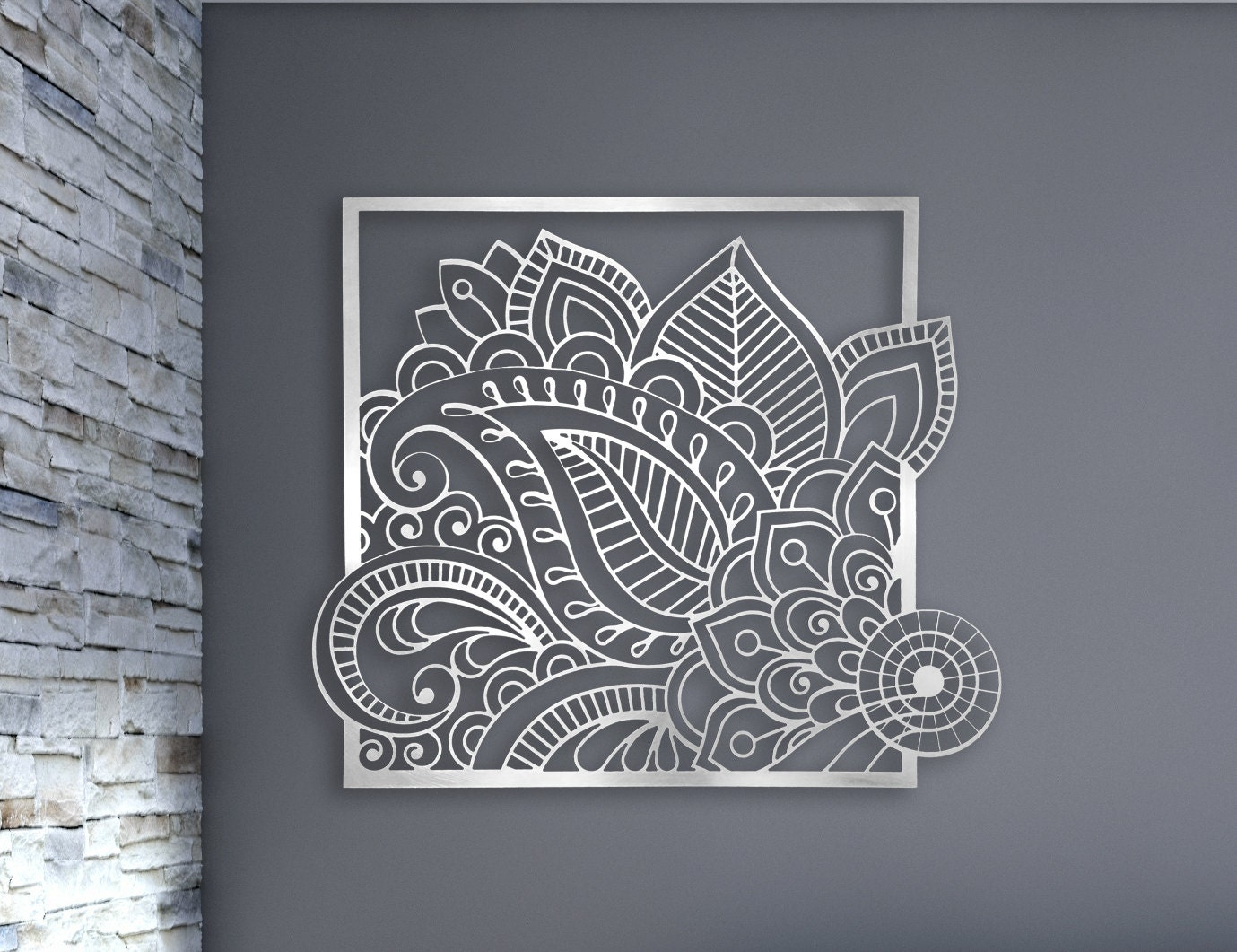 Laser Cut Metal Wall Art : Laser cut metal decorative wall art panel sculpture for home