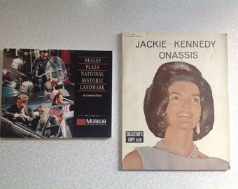 Jackie Kennedy Onasis Biography and Dealy Plaza Museum book set.