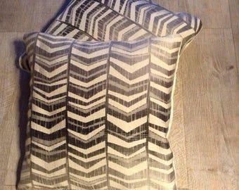 Satin ivory grey Cushion cover