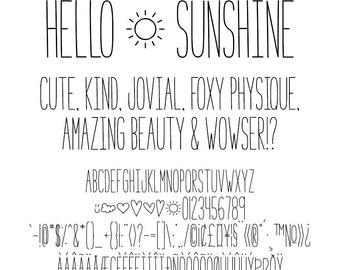 MTF Hello Sunshine Font