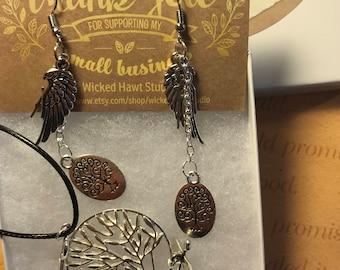 Steampunk Tree of Life Jewelry Set