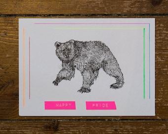 Happy Pride - Pride Grizzly Bear Postcard