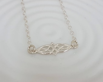Celtic infinity necklace sterling silver, choker necklace, boho silver necklace, layering choker