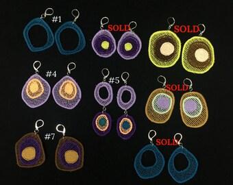 Colorful woven earrings Boho earrings Festival earrings Bold earrings Drop earrings Statement earrings Gypsy earrings Mothers day
