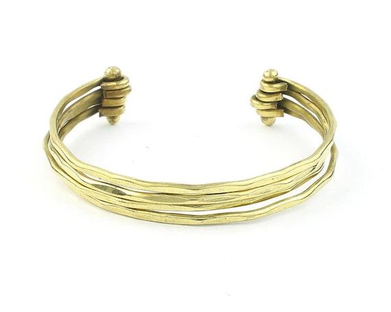 Roma Stack Bracelet, Hammered Bangles, Lower Arm Cuff, Boho, Bohemian, Gypsy, Festival Jewelry, Modern, Contemporary