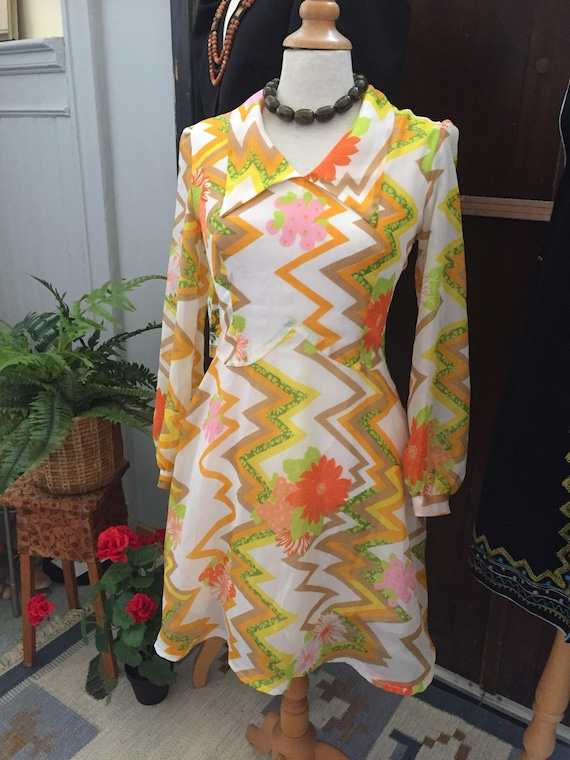 Vintage/secretary/summer/dress/1960s/US size 8/afternoon party