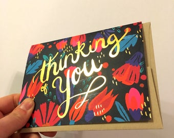Thinking of You - A2 Greeting Card with Envelope