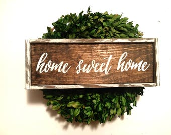 Home Sweet Home Handcrafted Wooden Sign