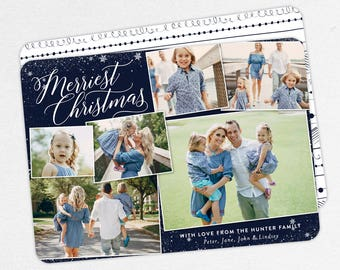 24 HOUR TURNAROUND, Family Christmas Cards, Photo Christmas Cards, Family Holiday Cards, Merry Christmas Cards, Merriest Christmas Cards