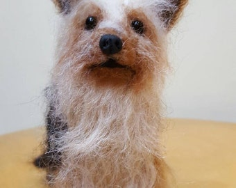 Needle felted miniature dog Yorkshire terrier,made to order from your photos