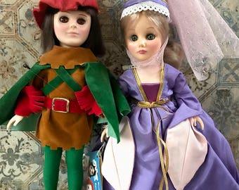Robin Hood and Maid Marian Renaissance Dolls by Effanbee