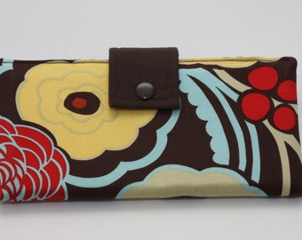 Large Fabric Wallet - Alexander Henry Mocca Fabric
