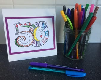 Handmade birthday number card