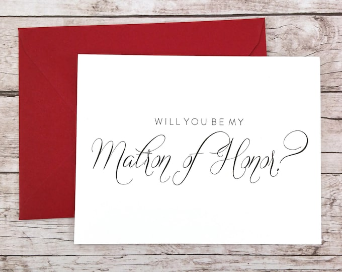 Will You Be My Matron of Honor Card (FPS0058)