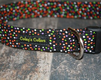 "Dog Collar ""The Halloween Confetti"""