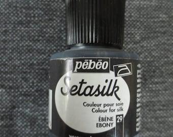 Setasilk 45 ml collar Pebeo silk paint color. ebony #29