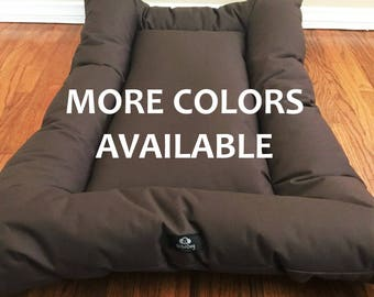 Canvas Dog Bed, Waterproof Dog Bed, Dog Crate Bed, Dog Bed,Dog Crate Mat, Durable Dog Bed Custom Dog Bed Dog Bed Cover, Choose from 9 Colors