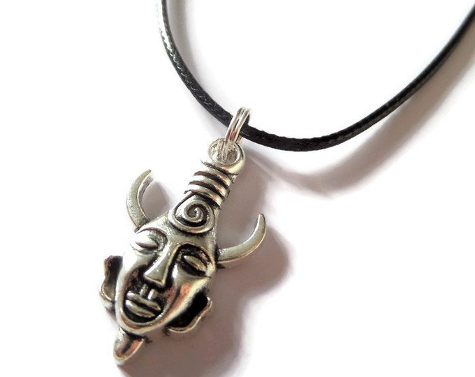 SUPERNATURAL inspired AMULET bronze or silver black cord necklace Winchester fan gift Xmas Uk