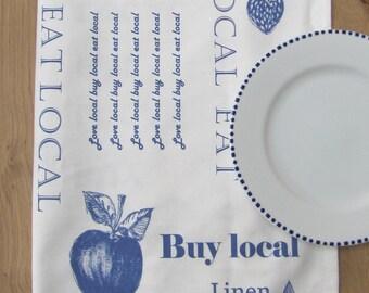 Tea Towel Dish towel Love Local Buy Local