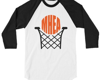 MHEA Basketball 3/4 sleeve raglan shirt Adult Sizes