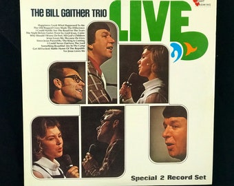 BILL Gaither Trio Live 2 LP Record Set Heart Warming Records R3178 Gatefold  NM Circa 1971
