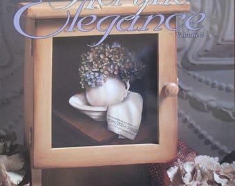 "Folk Art 2001 Decorative book ""Acrylic Elegance"" by  Sharon  Hamilton CDA 30 pages used book"