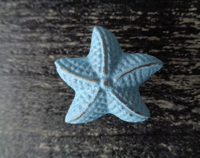 Starfish knob beach furniture drawer pull nautical cottage restoration decorating interior design cabinet knobs dresser BeachHouseDreams OBX