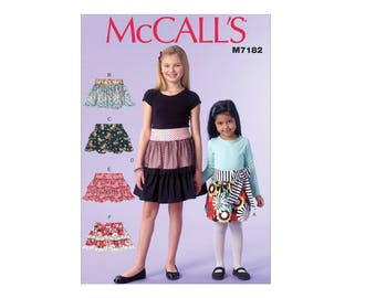McCall's 7182 - Children's/Girls' Ruffled Skirts