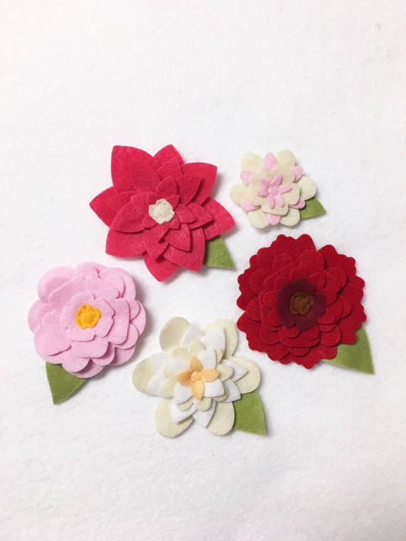 Spring Felt Flowers, Loose Flowers for Crafting and Decor, Bright Pink Flower Blooms, Wedding and Party Decoration