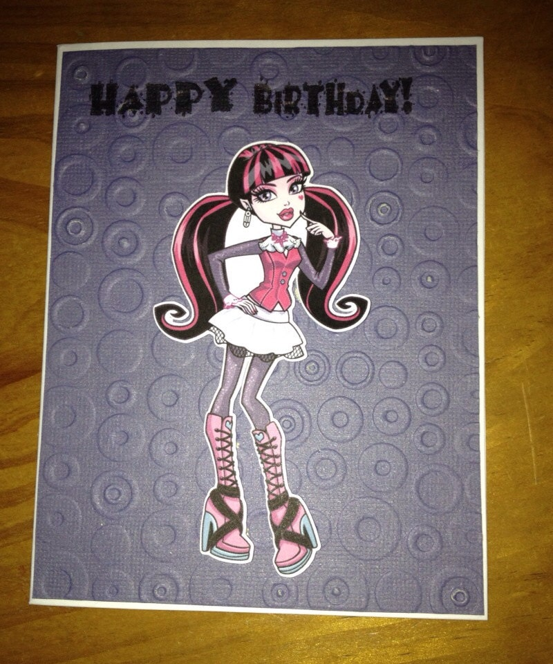 Monster High Birthday Card