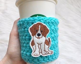 Beagle Cup Sleeve, Beagle Coffee Cozy, Beagle Gift
