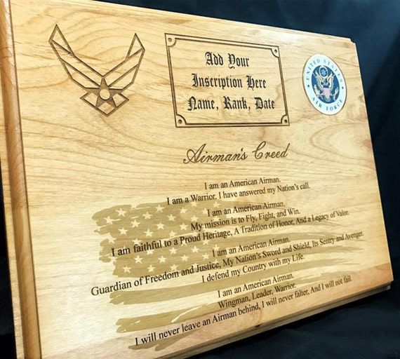 Personalized air force airmans creed plaque thecheapjerseys Images