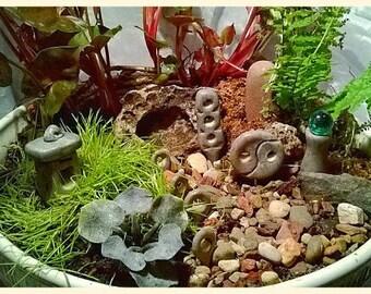 Custom Set Of 8 Granite Style Polymer Clay Japanese Or Zen Garden Fairy  Garden Accessories Pagodas
