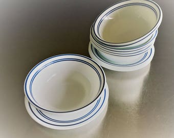 Corelle Classic Cafe Blue - Bread and Butter Plate and Soup Bowl - 2 Piece Set