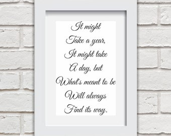 It Might Take A Year Framed Quote Print Mounted Word Art Wall Art Decor Typography Inspirational Quote Home Gift
