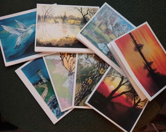 Inspirational and encouraging note cards with original artwork