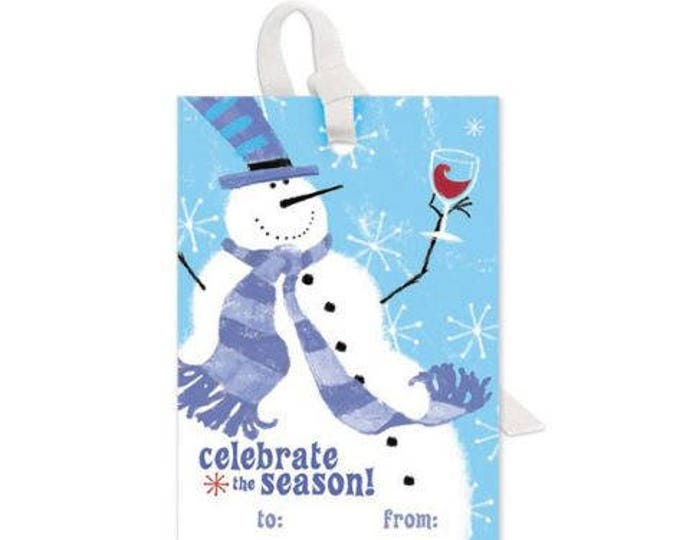 Wine Bottle Gift Tag - Celebrate The Season, Sold Individually