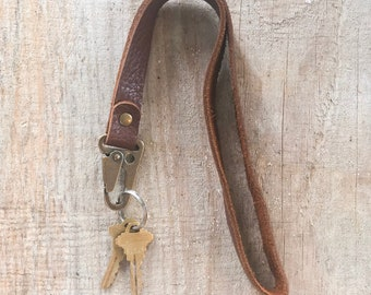 Bison Leather Lanyard